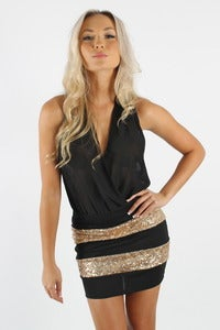 Image of GOLDEN HOUR SEQUIN DRESS 