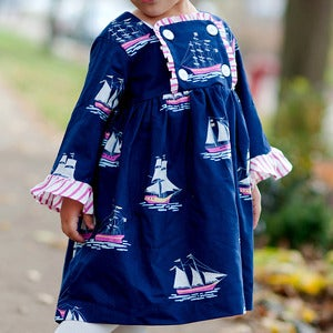 Image of Long Sleeved Dress Pattern for Girls - The Chelsea Dress PDF