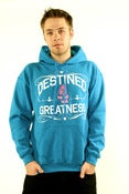 Image of DESTINED 4 GREATNESS HOODIE( Aqua Blue/Pink)