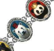 "Image of ""Royal Bears"" 5 Link Bracelet"