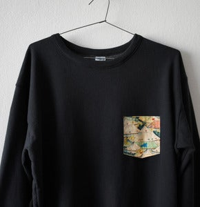 Image of CIRCUS POCKET BLACK  SWEATSHIRT