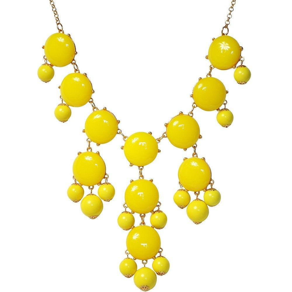 Image of Crew Bubble Statement Necklace::Yellow 