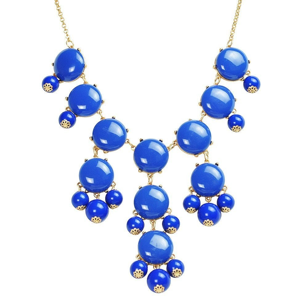Image of Crew Bubble Statement Necklace:: Blue