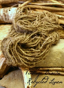 Image of Vintage Brown Recycled Linen Yarn