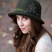 Image of Olive Green Fedora Women's Hat by Bethany Lorelle