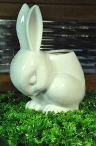 Image of Ceramic Rabbit Planter