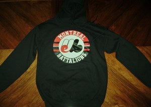 Image of &quot;Montreal Battalions&quot; Black Hoodie