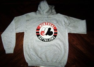 Image of &quot;Montreal Battalions&quot; Grey Hoodie