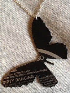 Image of Vinyl record necklace Butterfly Dirty Dancing