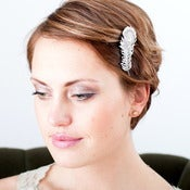 Image of Crystal Peacock Hair Clip 