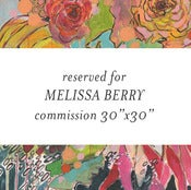 "Image of commission flowers for melissa 30""x30"""