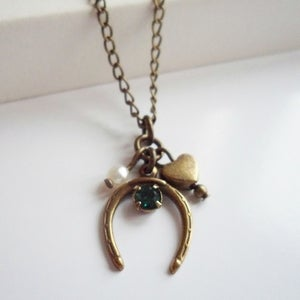Image of Charmed Horseshoe Neckace