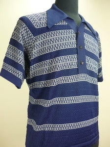 Image of 50s Donegal knit golf shirt