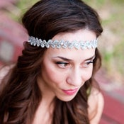 Image of Silver Boho Lace and Sequin Headband by bethany lorelle