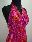 Image of 70s Kimi's fuchsia Hawaiian halter maxi dress