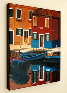 Image of Venician Alleyway-16x20 Fine Art Giclee Canvas Print