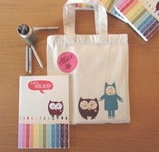 Image of Personalised Bag, Drawing Book and Pencils Set
