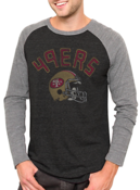 Image of NFL San Francisco 49ers Vintage Inspired Long Sleeve Raglan