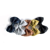 Image of Small Glitter Hair Bow - Metallics