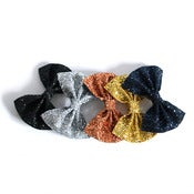 Image of Medium Glitter Hair Bow - Metallics