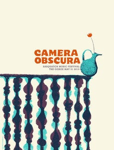 Image of Camera Obscura Gig poster