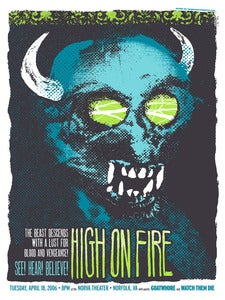 Image of High On Fire Gig poster