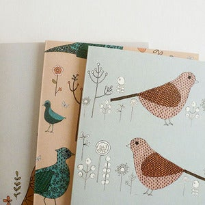 Image of Bird and Flower Cards set of 3