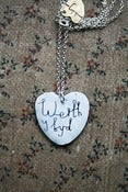 Image of  'Werth y Byd' Heart Enamel Necklace