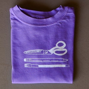 Image of Art Supplies Long-Sleeved Tee Violet