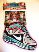 Image of King Of Miami Lebron Swag Stocking (Plushy White Velvet)