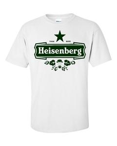 Image of HEISENBERG PARODY OF HEINEKEN LOGO BREAKING BAD T-SHIRT
