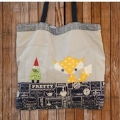 Image of Fox and Gnome Tote Bag Pattern PDF