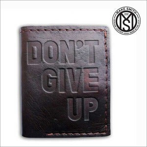 "Image of ""DONT GIVE UP"" Leather Wallet"