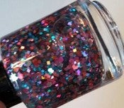 Image of Stained Glass - Teal Pink Purple Indie Hologram Glitter Nail Polish