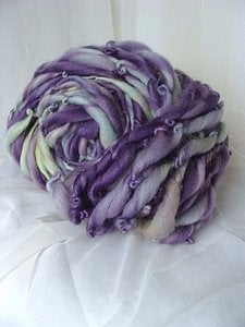 Image of Handspun BFL Yarn - Winter Crocus