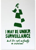 Image of Under Surveillance, green (stenciled print)
