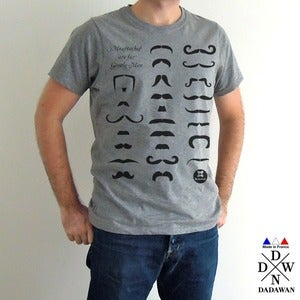 Image of T-shirt Moustaches are for Gentle Men - Made in France