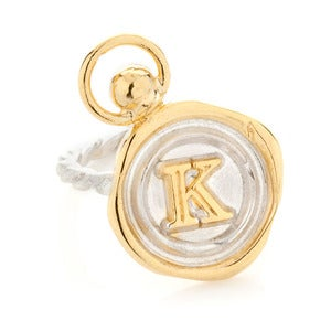 Image of Mini Personalised Wax Seal Ring with top