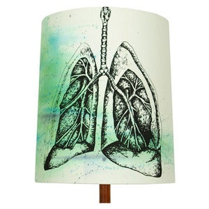 Image of Anatomy Lamp Shade - Lungs No. 2, Painted
