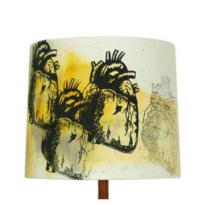 Image of Anatomy Lamp Shade - Heart, Painted SOLD