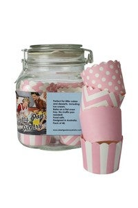 Image of Patty Pan Pantry Glass Jar & 40 Patty Cups