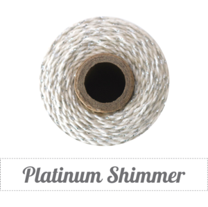Image of * NEW * Platinum Shimmer - Silver Metallic & Natural Baker's Twine