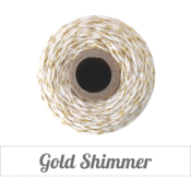 Image of Gold Shimmer - Gold Metallic &amp; Natural Baker's Twine