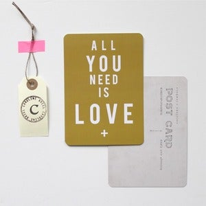 "Image of Carte Postale ""All You Need is LOVE"""