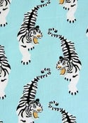 Image of Ice blue tiger organic cotton jersey (by the half metre)
