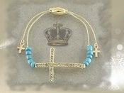 Image of CROSS BRACELET BLUE
