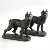 Image of Boston Terrier Bookends / 1950s