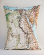 "Image of Vintage Egypt 16""x20"" Map Pillow Cover"