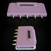 Image of Iphone 5 Lilac Palm Wallet  (FREE SHIPPING)