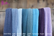 Image of Newborn Stretch Wraps - Blues and Purples